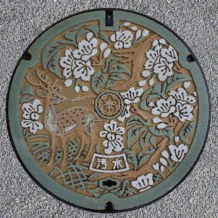奈良市のマンホールカード