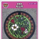 松山市(A001)のマンホールカード