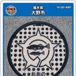大野市(A001)のマンホールカード
