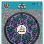 【6月9日配布開始】宮代町(A001)のマンホールカード